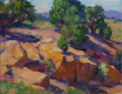 SOLD at the event! This en Plein Air painting by Greg Harris