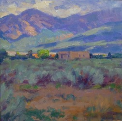 SOLD at the event! This Taos painting by Greg Harris